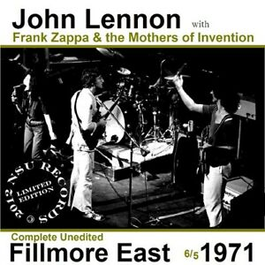 John Lennon Frank Zappa Live At The Fillmore East 1971 June 5th Ltd Cd Ebay