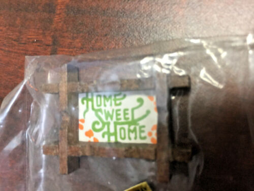 Home Sweet Home  Wall Decor  *VINTAGE A75 Doll House Miniature Accessory