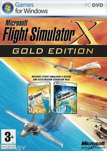 Details about Microsoft Flight Simulator X Gold Edition FSX (Original PC  Games) New in Box