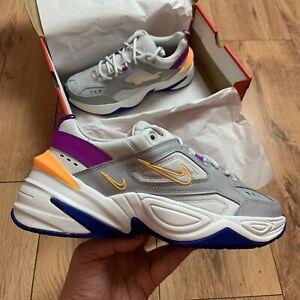 Femmes-Nike-M2K-TEKNO-Baskets-Taille-UK-5-5-EUR-39-gris-AO3108-018-NEUF