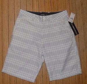 Herrenmode Neueste Kollektion Von Nwt Herren O'neill Shorts ~ Freak ~ Weiß/grau ~ Sz 30 Ausgereifte Technologien