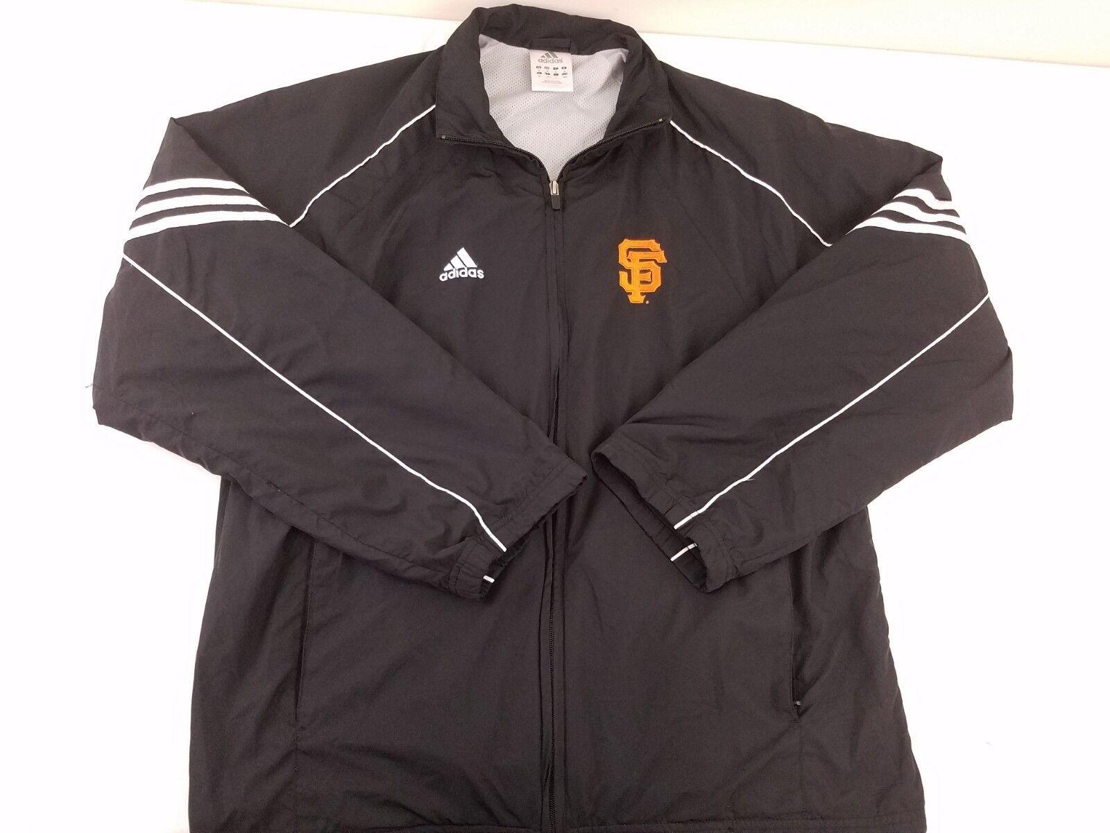 Veste Coupe-Vent Full Zip Adidas Hommes Noir San Francisco Giants Taille Medium