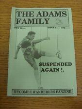 1992-1993 Wycombe WANDERERS: fanzine-La Famiglia Adams, questione 05 dicembre 1992.