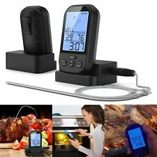 Home Wireless Remote Smoker BBQ Grill Thermometer For Kitchen Oven Food Cooking