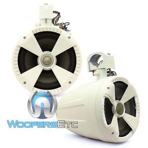 SOUNDSTREAM-WTS-8W-WHITE-8-034-TITANIUM-TWEETERS-MARINE-BOAT-WAKE-TOWER-SPEAKERS