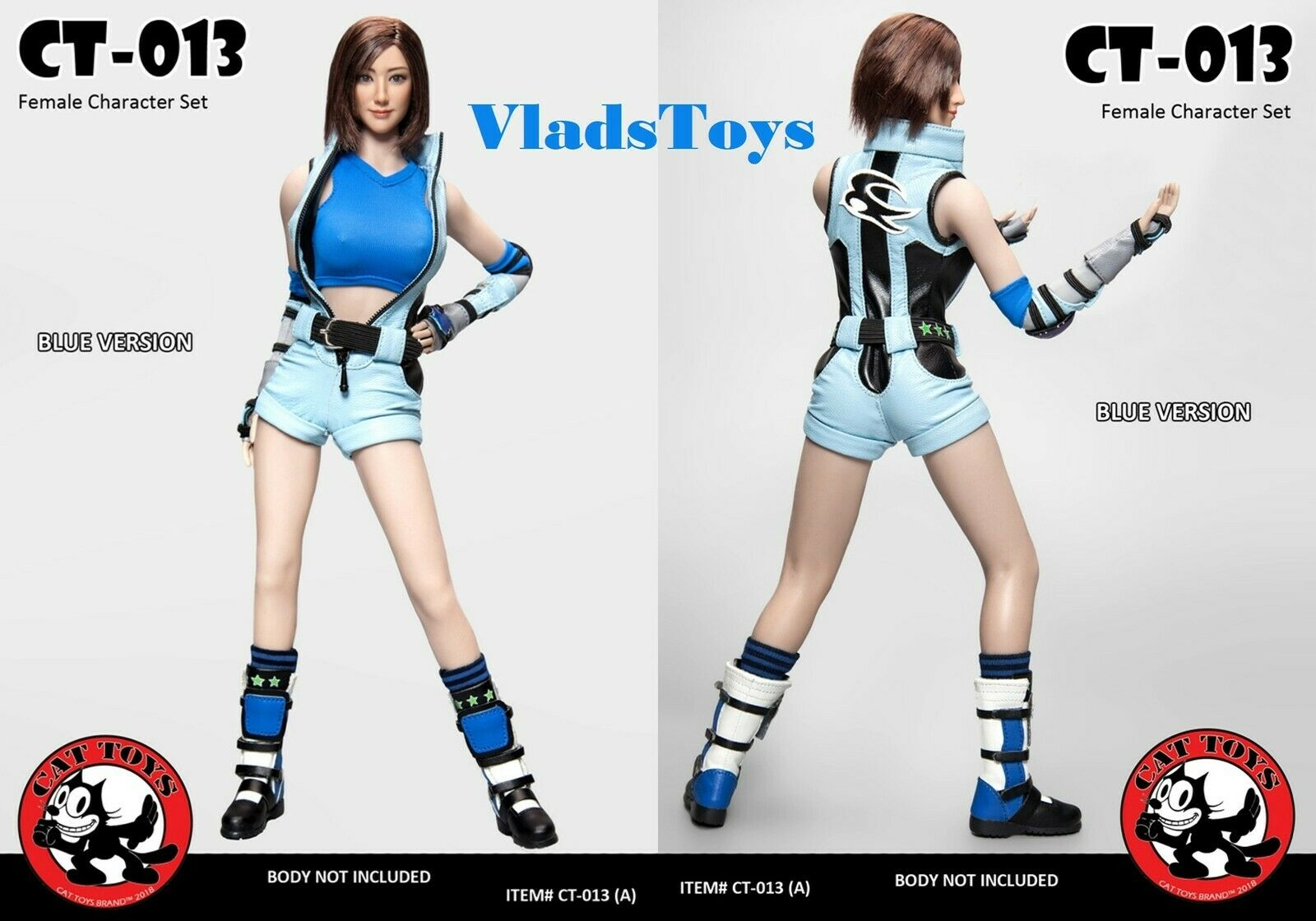 Cat Toys 1 6 Female Video Game Character Set Tekken Asuka bluee CT013-A USA