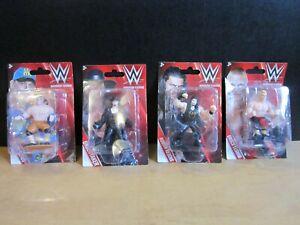 "Mini3"" Figures LOT WWE JOHN CENA, BROCK LESNAR, UNDERTAKER, ROMAN REIGNS-NEW"