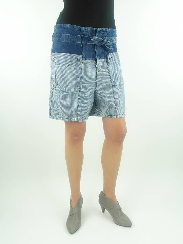 Diesel Walkshort Jeansshort kurze Hose Seitey blue Gürtel
