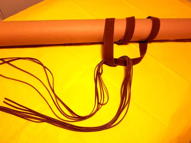 Gü107-beige Braun 2 Cm Schmal 75 Cm Plus 45 Fransen Lang Xs S M Damen Gürtel