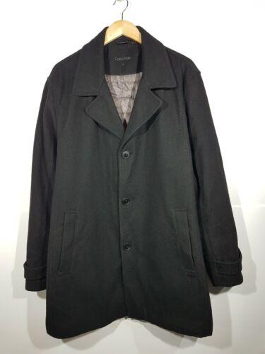 CALVIN KLEIN Wool Long Coat Mens Travis Style Jack