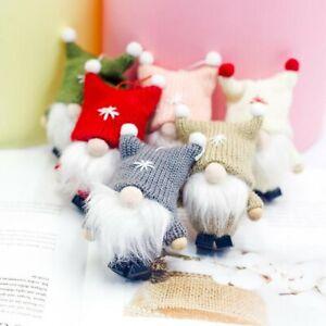 CHRISTMAS-FACELESS-GNOME-SANTA-XMAS-TREE-HANGING-ORNAMENT-DOLL-HOLIDAY-DECOR-Dw