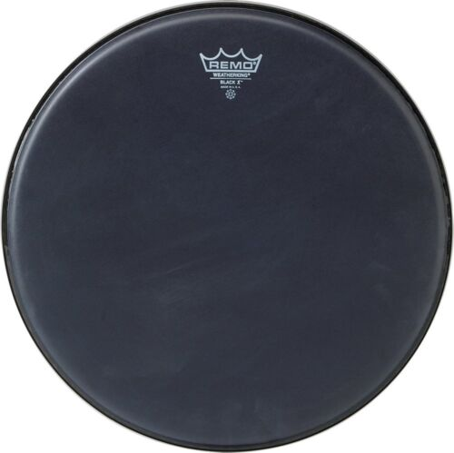 "Bottom Black Dot 13/"" Remo Emperor X Black Suede Snare Drumhead"
