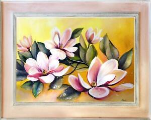 Lilien-Blumen-Olgemaelde-Bild-Bilder-Gemaelde-Olbilder-Olbild-Mit-Rahmen-G15911
