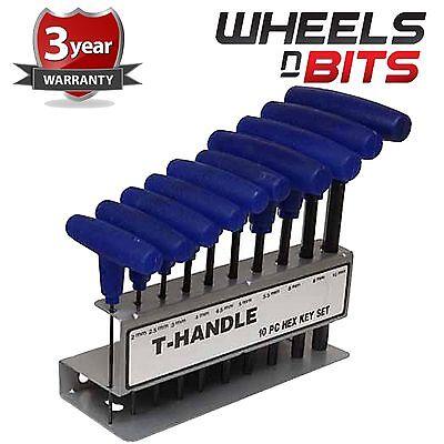 T Bar Driver Dual HEX Piece Metric Allen Key Silverline T-Handle Heavy Duty 10Pc