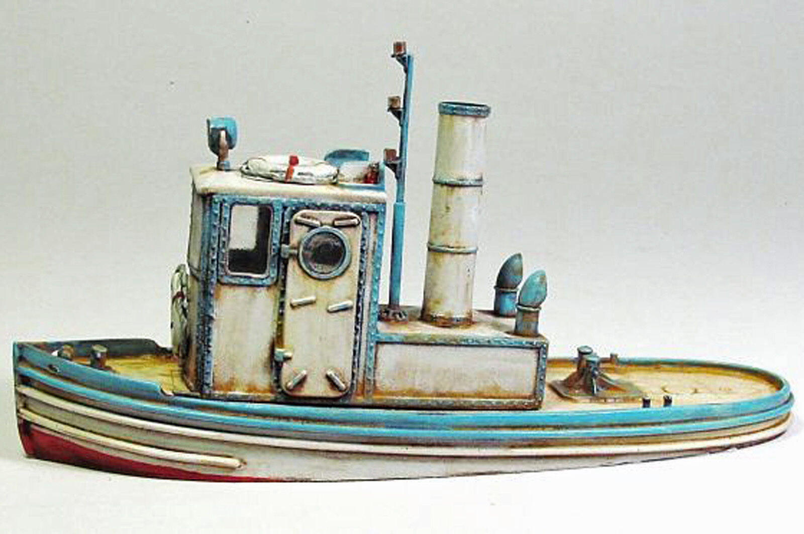 24' TUGBOAT O On30 Waterline Hull Model Railroad Ship Boat Uptd Resin Kit FR175