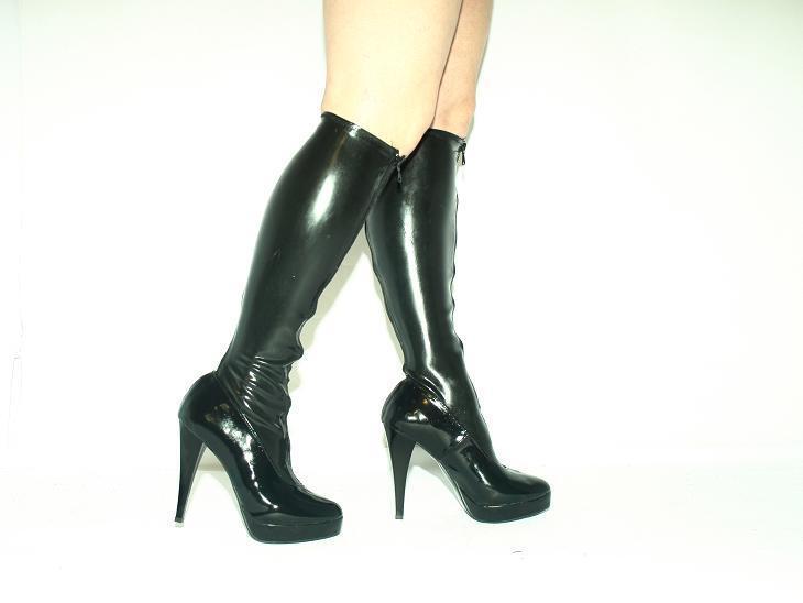 Negro-rojo Goma De Látex Látex Látex Fetiche de botas talla 4-12 - Tacones 5,5   - productor-Polonia  40% de descuento