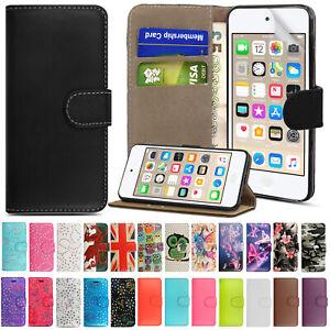 Apple-iPod-5th-6th-7th-generacion-Flip-Touch-Billetera-Cuero-Libro-Soporte-Funda-Covr
