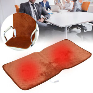 Electric Heating Mat Chair Cushion Pad Anti-Slip Warm Chair Pad for Home Office
