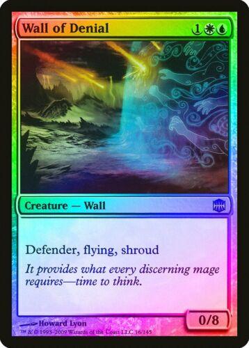 Wall of Denial FOIL Alara Reborn HEAVILY PLD White Blue Uncommon CARD ABUGames