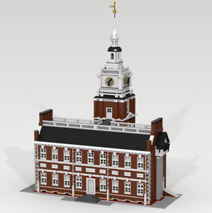 Details about CUSTOM LEGO BUILDING Independence Hall  Philadelphia (USA)   GREAT SIZE !!!