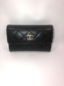 880ae16f6933 CHANEL Flap Card Case Coin Holder Mini Wallet Black Caviar 2017 ...