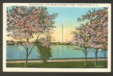 1931 Postmarked Postcard Washington City from Potomac Park Washington DC