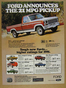 1981 Ford F150 >> Details About 1981 Ford F150 F 150 Ranger Pickup Truck Photo Vintage Print Ad