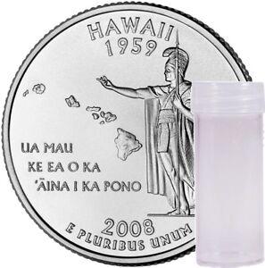 """2008 D Alaska State Quarter /""""BU/"""" 40 Coin Roll From US Mint Bag"""