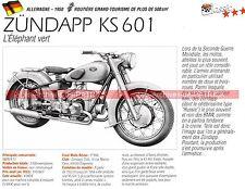 ZÜNDAPP KS 601 ( KS601 ISDT ) 1950 Fiche Moto 000266