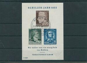 Germany-GDR-vintage-yearset-1955-Mi-Block-12-IV-Postmarked-Used-2-Eckbug