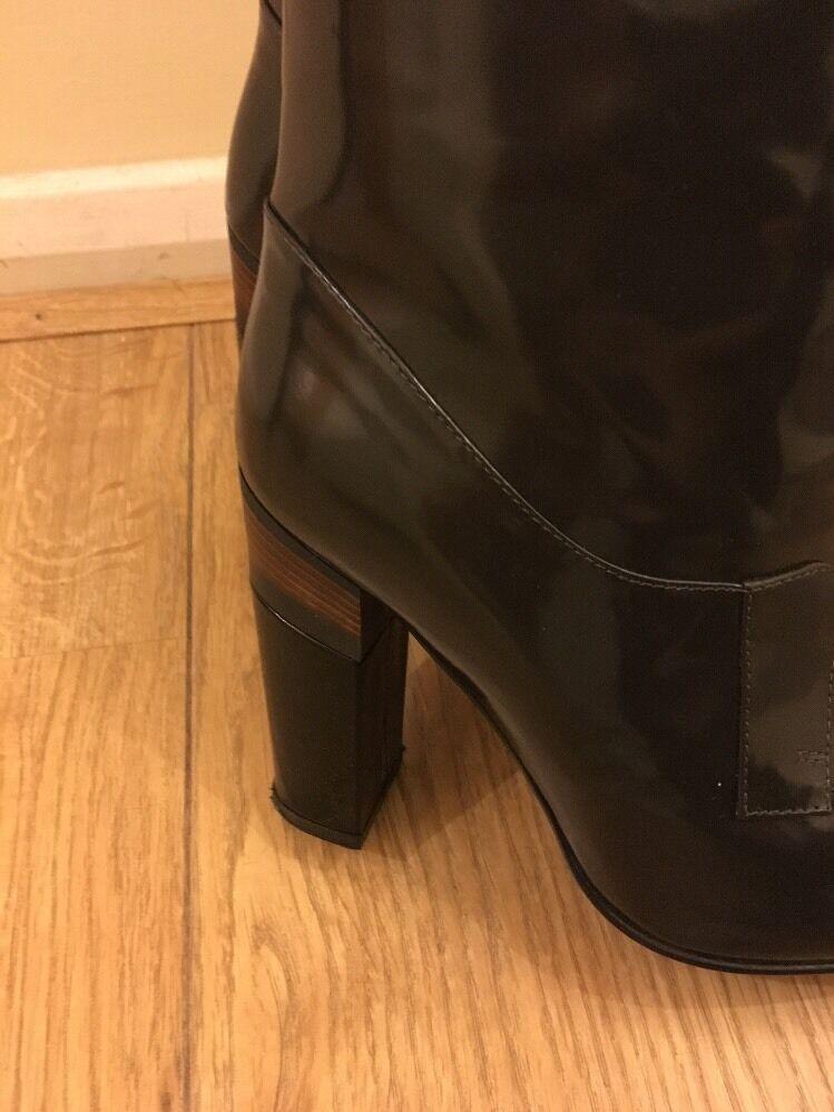 Marni donna indossato misura 37.5 marrone scuro indossato donna solo poche ore RRP 76e203