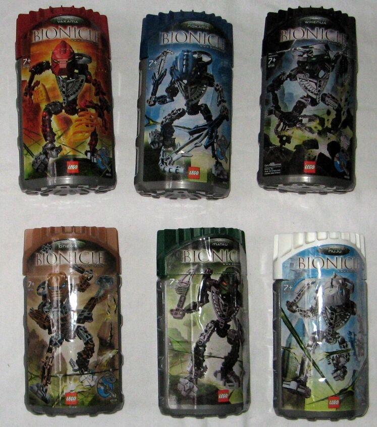 Lego Bionicle Toa Hordika 8736 8737 8738 8739 8740 8741 con embalaje original rareza colección