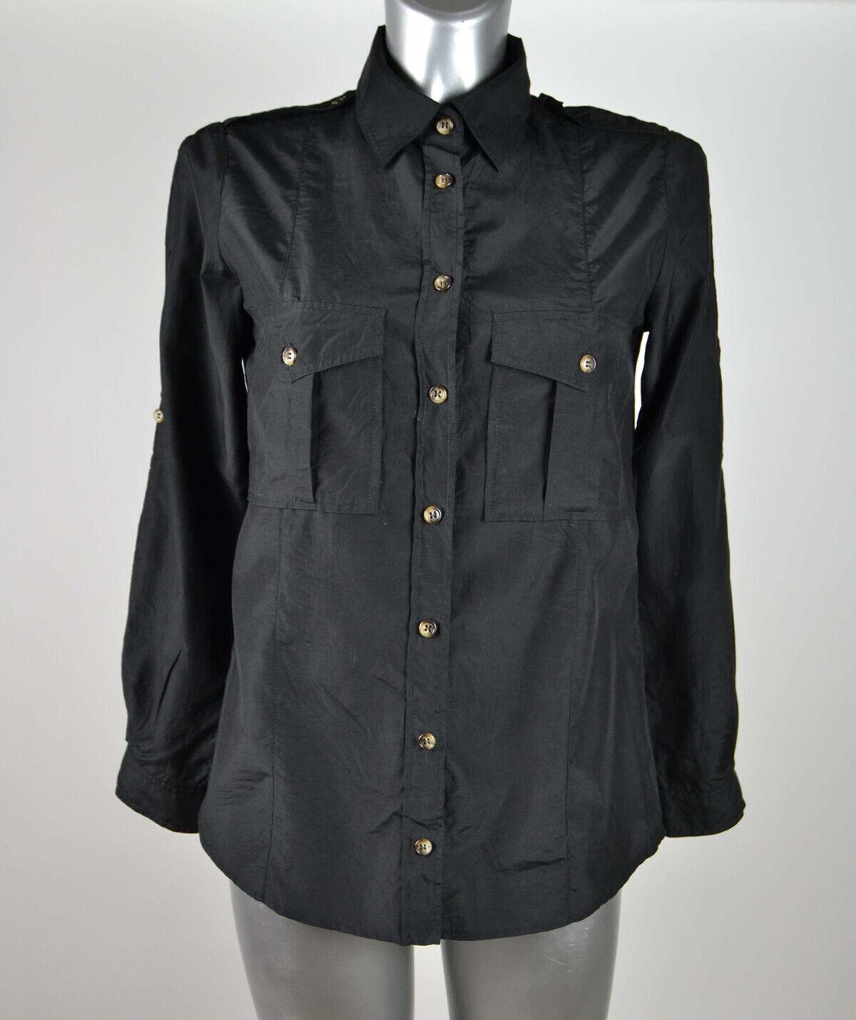 Camicia MARELLA, taglia 40, schwarz, seta e cotone
