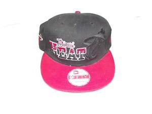 fee1d4c17e3 Miami Heat New Era 9FIFTY Snapback Ball Cap Hat Hardwood Classic