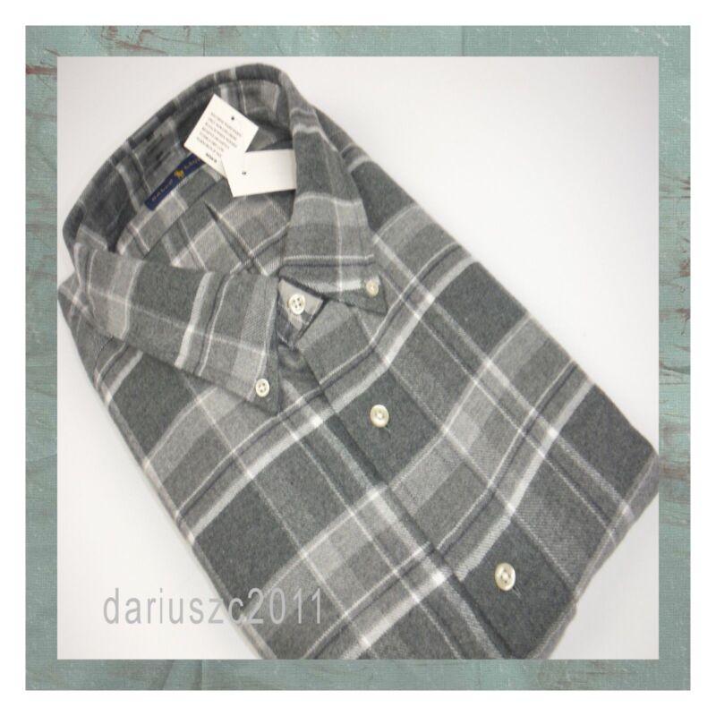$89 Ralph Lauren Big&tall Gray Long Sleeve Flannel Shirt Top Size 4xb