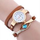 Women Crystal Bracelet Wrist Watch Fashion Quartz Ladies Stainless Steel NEW
