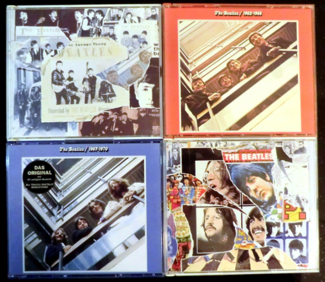 The Beatles: 4 stk. dobbelt cd'er, pop, The Beatles – 4…