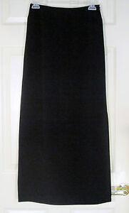 NWT-Laura-Ashley-Black-formal-Full-Length-Skirt-with-side-slit-UK-8-EUR-34-US-4