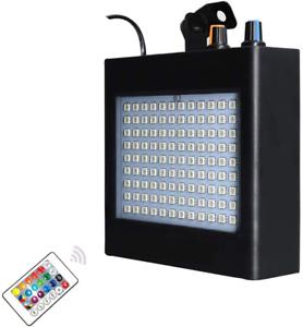 Enuoli-ULTRA-LUMINOSA-LED-RGB-strobo-luci-25W-108-LED-SUPER-LUMINOSI-MISTE-Flash