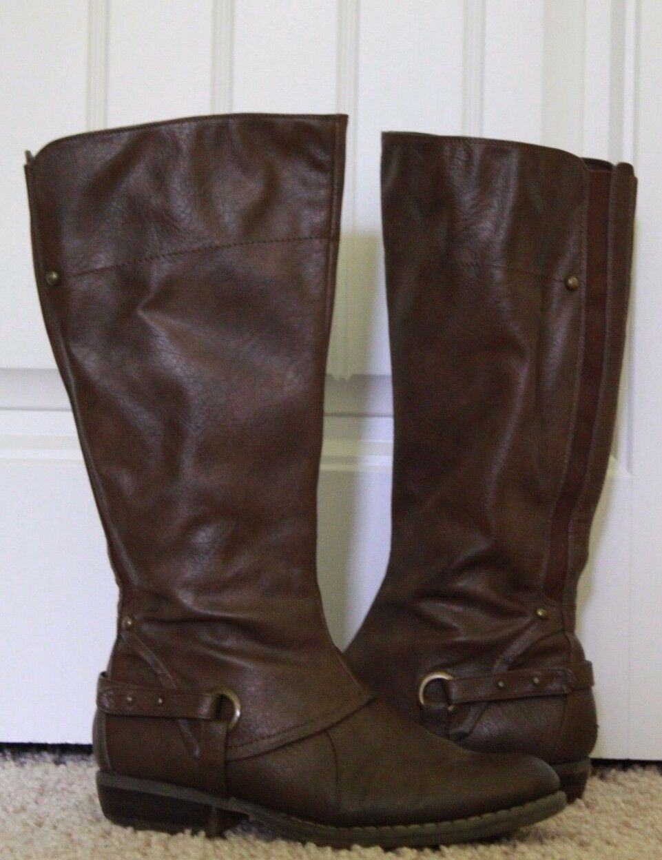 Baretraps Tall Dark Brown Leather Boots 9M