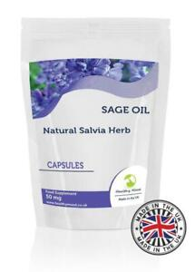 Sage-Oil-50mg-Herb-Vitamins-250-Capsules-Pills-Supplements