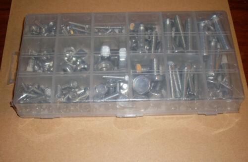 Sechskantschrauben Schrauben und Muttern-Sortiment 240 Teile Federringe Neu