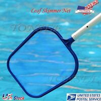Swimming Pool Spa Hot Tub Pond Surface Leaf Skimmer Net W/plastic Handle, Magnet