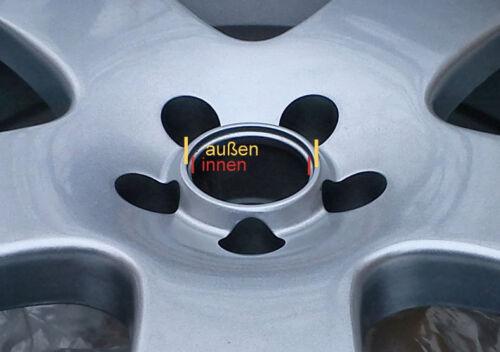 4x embellecedores tapas llantas tapa de 60,0 mm 54,0 mm para llantas de aluminio 6002