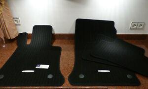 Original-Fussmatten-Rips-Mercedes-GLK-Klasse-X204-Ripsmatten-schwarz-2008-2016