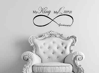 My King My Queen Forever Infinity Wall Sticker Vinyl Decal Any Room