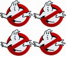 4 pcs GHOSTBUSTERS GHOST Movie Logo BUSTERS IRON-ON Embroidered Applique Patch