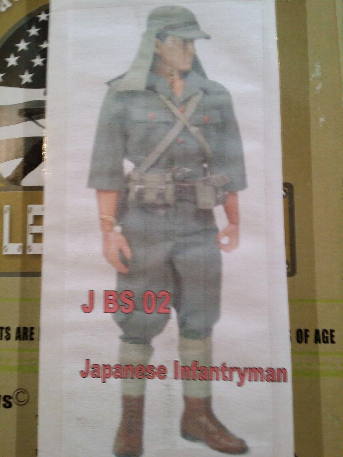 Action Figure 1 6 battle Gear Toys Set Japonais InfantryMan Grün WWII - J BS 02