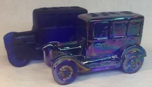 Boyd-Art-Glass-Set-Of-Two-BOYD-Taxi-Cab-Cobalt-Carnival-And-Cobalt-Satin