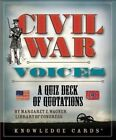 Civil War Voices a Quiz Deck of Quotations by Margaret E Wagner 9780764961366